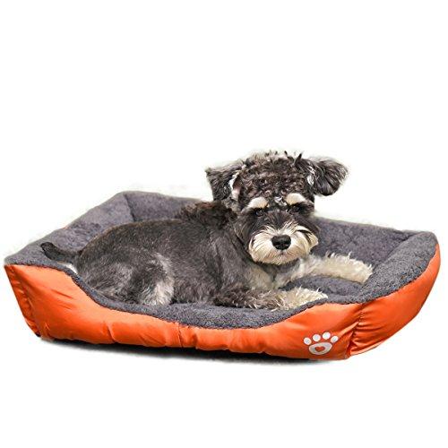 PAWZ Road 犬 猫 ペット ベッド ソファベッド かわいい ふかふか スクエアベッド(オレンジ XXL)