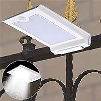ZUIANSHANG 46 LED 3.7VソーラーパワーPIRモーションセンサーウォールライトガーデン防水屋外ランプ フラッドライト (色 : 白)