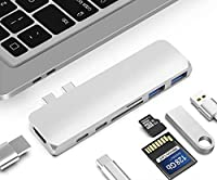 MAC用 7in1ハブ USB C ハブ Type-c Hub MacBook Pro 2016/2017対応 3ポート 4K HDMIポート taste-7in1mac