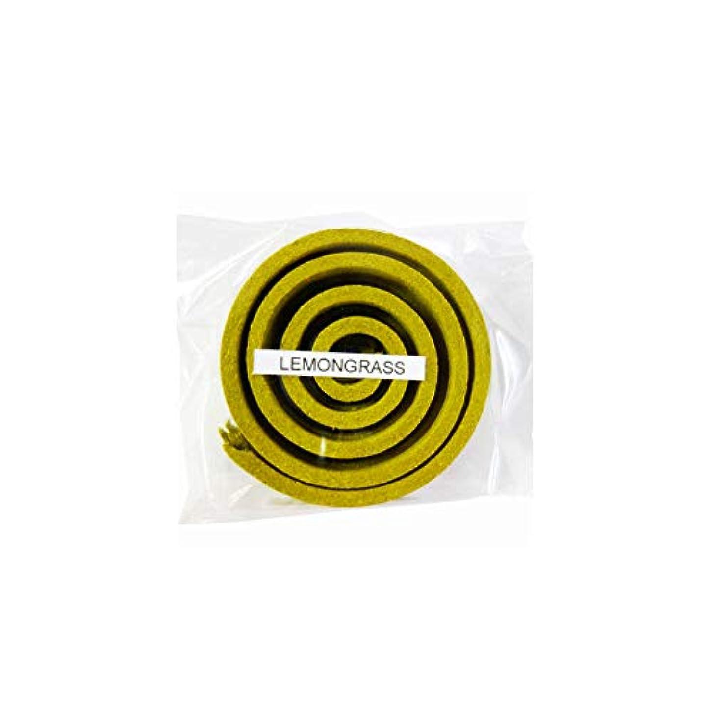 受粉者ハブ退化するお香/うずまき香 LEMMNGRASS レモングラス 直径5cm×5巻セット [並行輸入品]