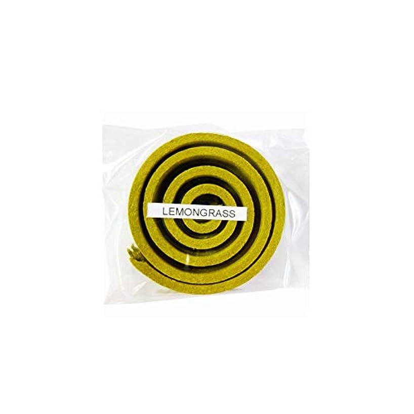 北西グラフスイングお香/うずまき香 LEMMNGRASS レモングラス 直径5cm×5巻セット [並行輸入品]