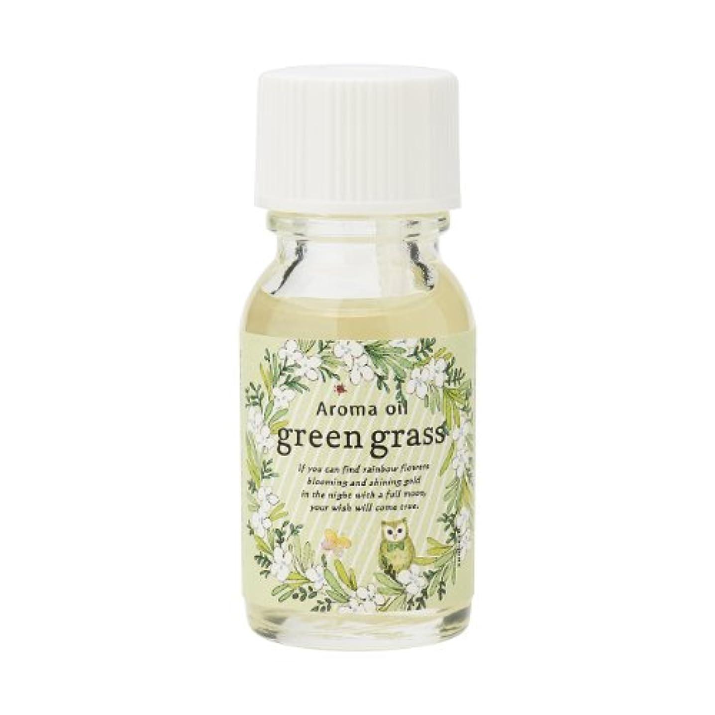 嫌悪地殻うんサンハーブ アロマオイル グリーングラス 13ml(爽やかでちょっと大人の香り)