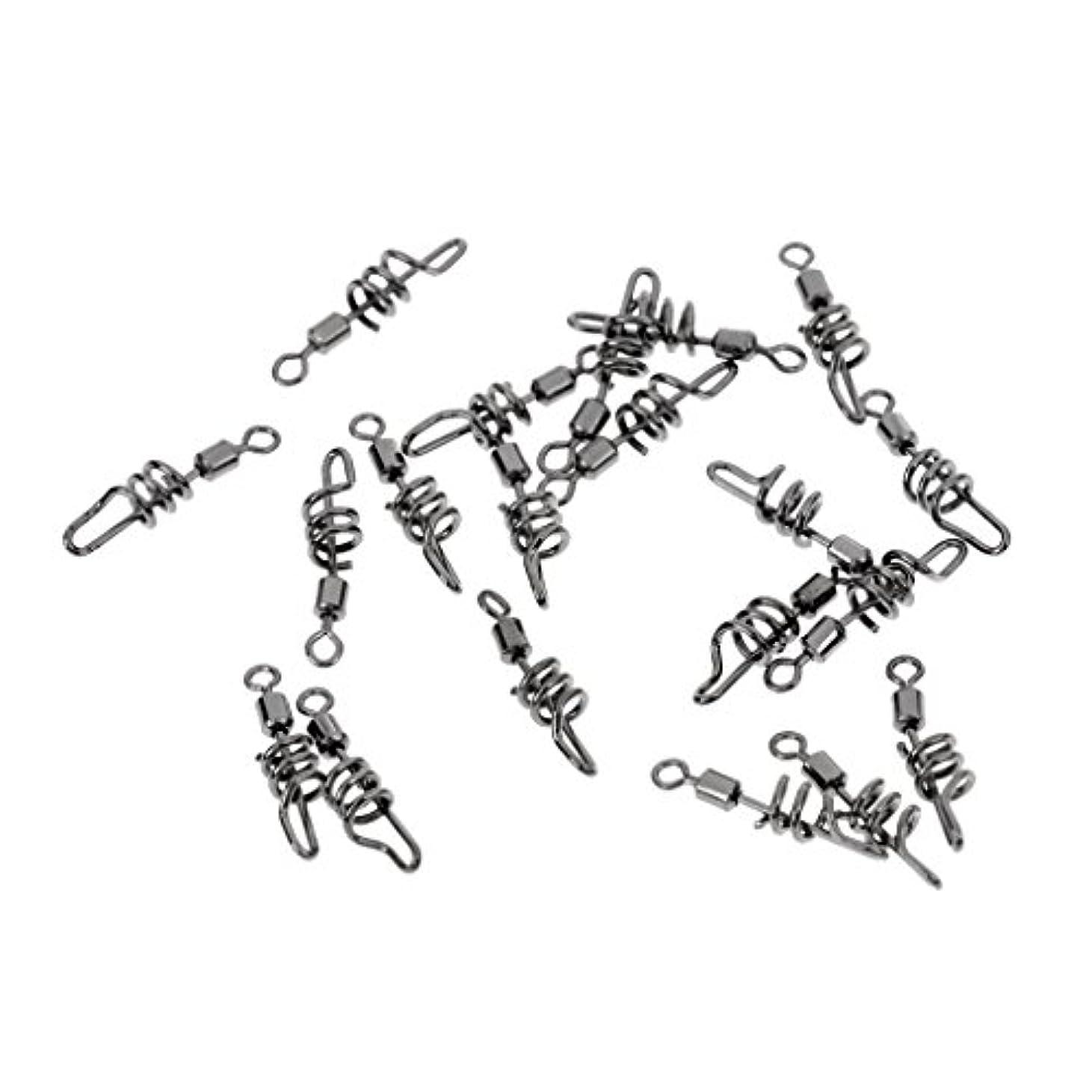 哀れな記事アカデミックノーブランド品  約20個入り フィッシング スイベル  スワール クリップ コークスクリュー リンク クイック チェンジ 5サイズ選べる  - 8#