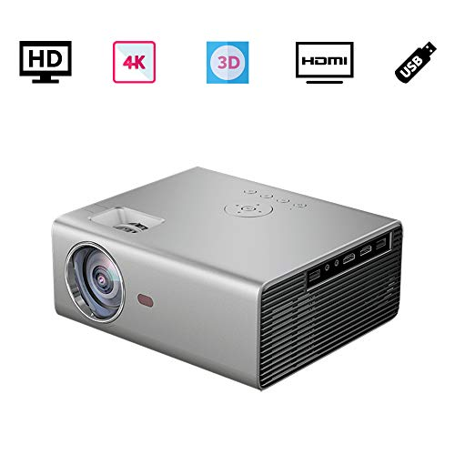 ポータブルプロジェクター小型、 家庭用 TV プロジェクター、3D ビデオ 映画プロジェクター3500 ルーメン、720P 元の解像度 1080p 4Kサポート、携帯電話、パソコン、PS4、Fire TV Stick 対応、HDMI USB VGA AV