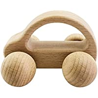 Montessori Nursing Wooden Teether Car Wooden Rattles Baby Fun and Interesting Toys by LOVEBABY