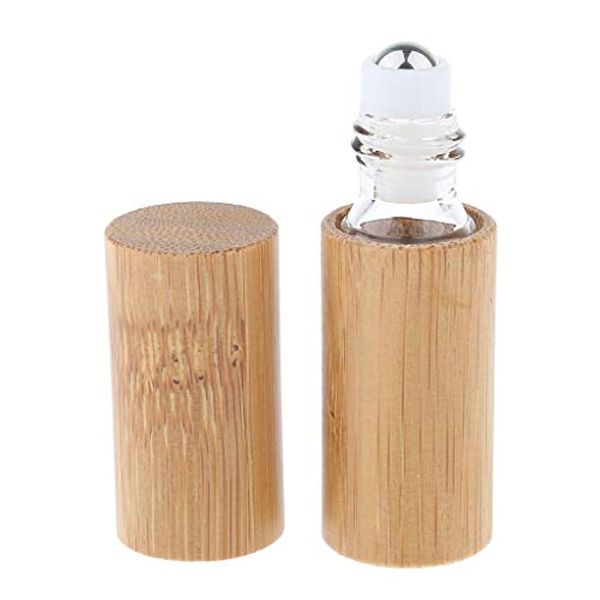 分数私たち乱れIPOTCH アロマボトル 保存容器 天然竹 エッセンシャルオイル 香水 保存用 詰め替え ローラーボール 手作り