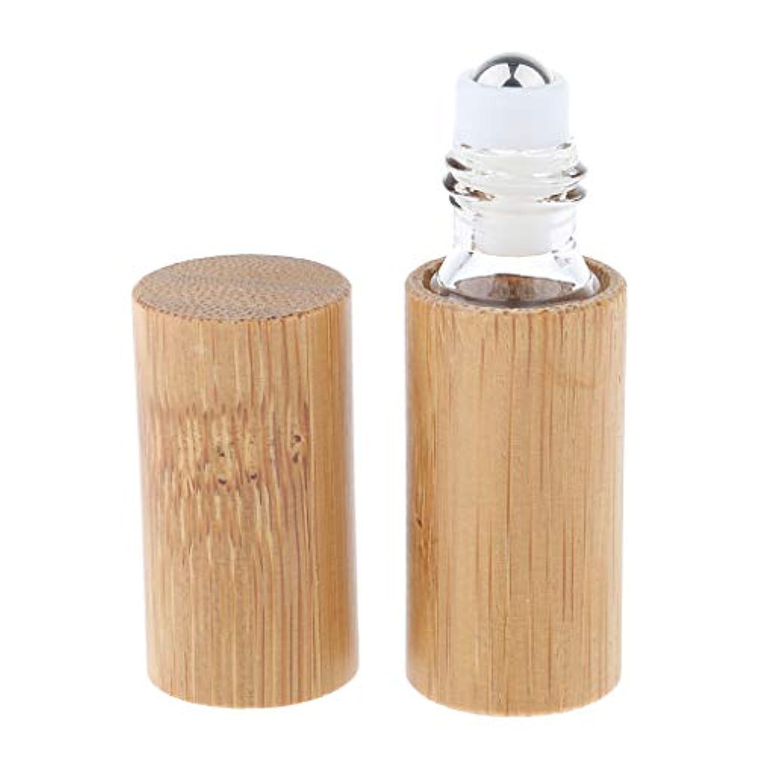 乗ってブラウザ区IPOTCH アロマボトル 保存容器 天然竹 エッセンシャルオイル 香水 保存用 詰め替え ローラーボール 手作り