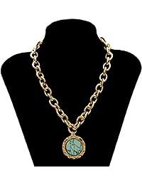 レディースネックレス 女性のための女性のヴィンテージボヘミアン鎖骨ネックレスステートメントネックレス女の子バレンタインデーギフト