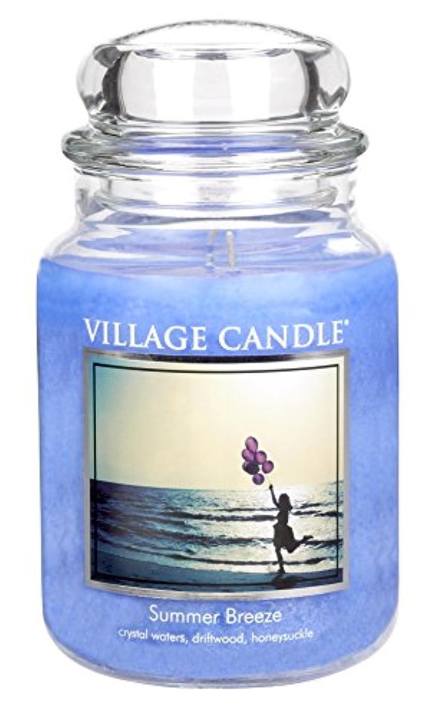 リテラシーモナリザ変装したVillage Candle Large Fragranced Candle - 17cm x 10cm - 26oz (1219g)- Summer Breeze - upto 170 hours burn time...