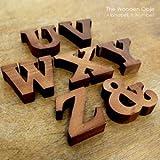 【アジア工房】木彫りのアルファベット文字&数字オブジェ[&] [37タイプ展開] [11553-&] [並行輸入品]