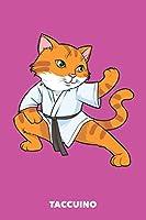 Taccuino: Gatto Karate A5 quadretti - 120 pagine per Proprietario del Gatto (rosa)