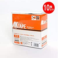 マジックテープ アラコー 面ファスナー AKテープ粘着付 50mm幅X5m 黒 メス AK-12 (10個セット)