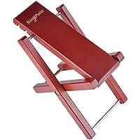 KingPoint 折り畳み式 ギターペダル 踏み台 フットレスト 足台 木製 楽器用品 高さ調節が可能 3つのレベル レッドウッド色