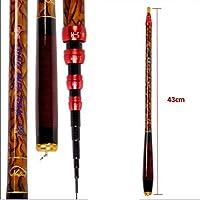 ZFF ミニカーボン釣り竿 超軽量 超短い ポータブル 伸縮ストリームポール 長さは置くことが可能 3.6m