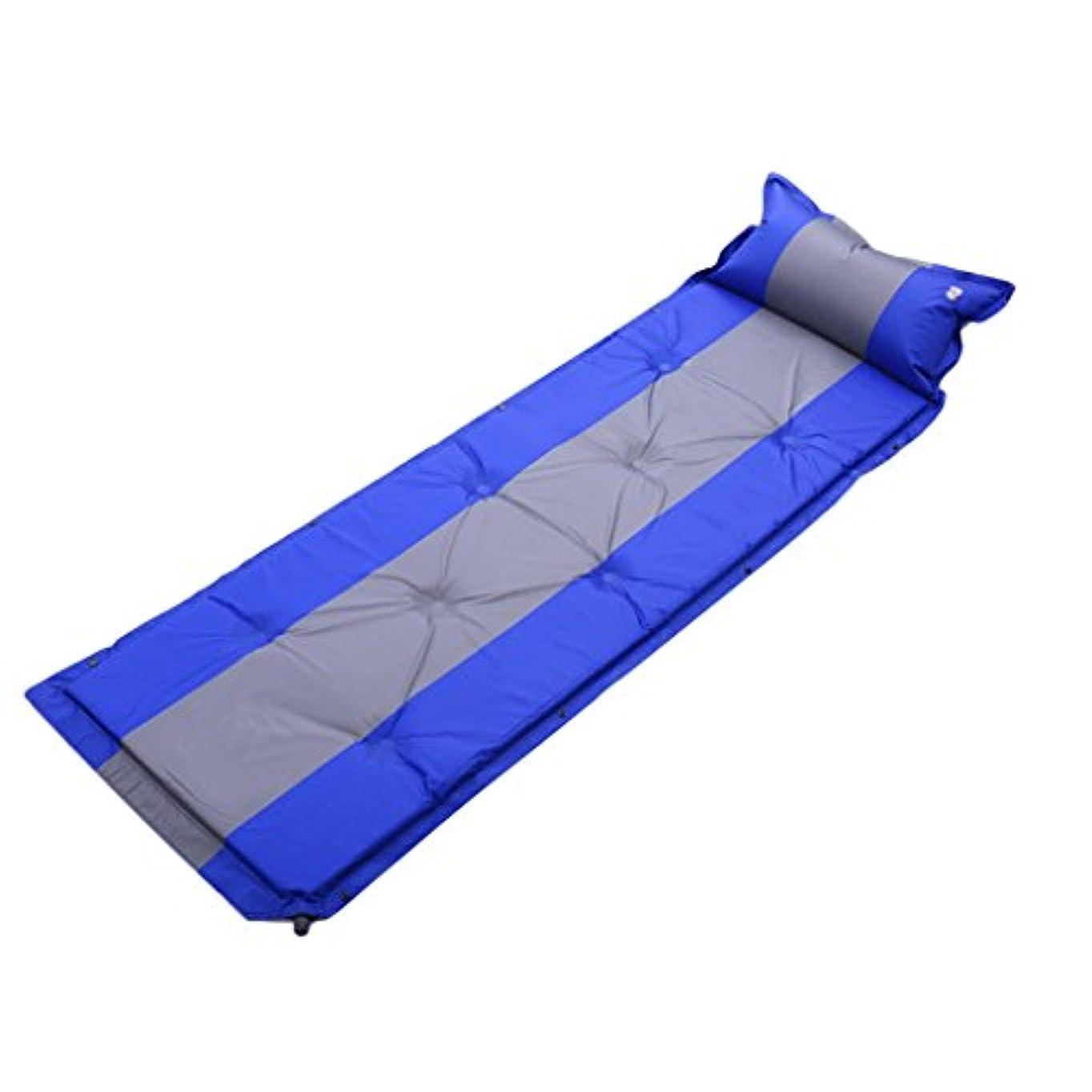 送料数学者送料GYP Suvカーエアベッド、トランクインフレータブルパッドアウトドアトラベルベッドカップル車ショックベッドマットレス192 * 60センチメートル個々のステッチ自動インフレータブルベッド ( 色 : 青 )