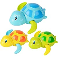 YuKing Baby Bathing Bath Swimming Tub Pool Toy Cute Wind Up Turtle Animal Bath Toys Set for KidsPack of 3 [並行輸入品]