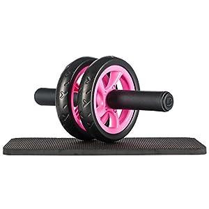 ウルトラスポーツ 自宅用腹筋ローラー 床パッド付き、ピンク