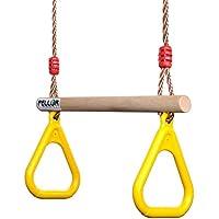 Pellor 子供遊び 体操吊り輪 ブランコ ロープ長さ2m 調節可能 160kgまで荷重