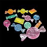 アクリルアイス キャンディ蛍光クリア(1kg)  / お楽しみグッズ(紙風船)付きセット