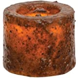"CWI Gifts Burnt Mustard 1.25"" 4Pc Led Votive Candle"