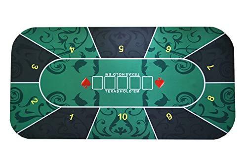 テキサスホールデム ポーカー レイアウト プレイマット 収納袋付き Gany (60㎝×120㎝)