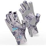 KastKing SPF 3/4 Finger Gloves (Silver Mist Prym1 Large/X-Large)