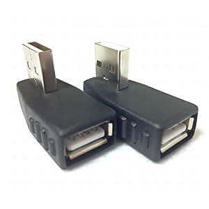 VORTEX(ボルテックス) USBアダプタ 方向変換 (手前/後 向き:2種類1セット) ノーマル type L 角度変換/変更 USBコネクタ usb2.0 GHV-T007