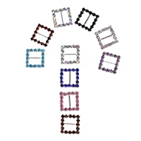 Perfeclan 髪/人形の服の飾り 四角形 結婚式の装飾 縫製 手芸 ギフト装飾  多彩 10mm 10個セット