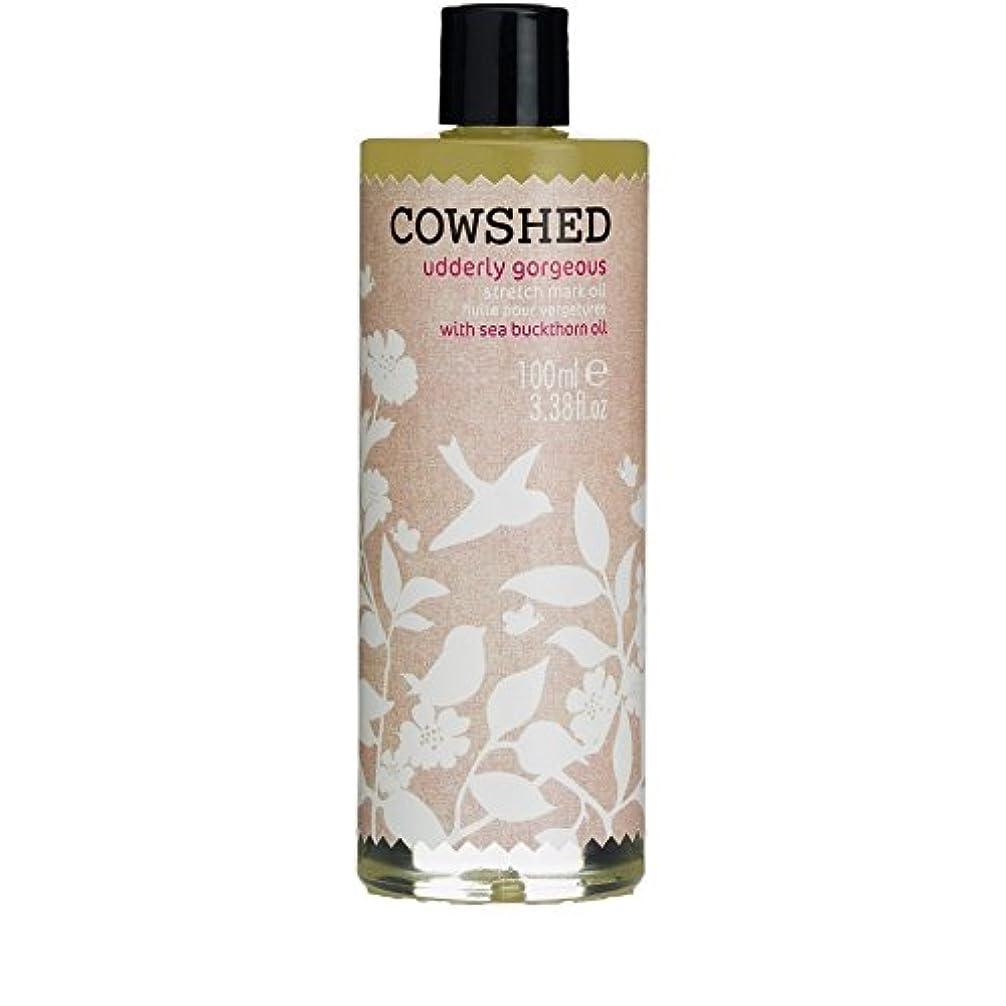 有名なセンチメートル最高Cowshed Udderly Gorgeous Stretch Mark Oil 100ml - 牛舎ゴージャスなストレッチマークオイル100ミリリットル [並行輸入品]