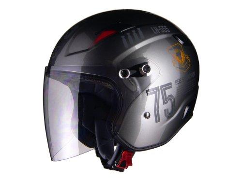 リード工業 バイクヘルメット ジェット RAZZO-3 G-1 シルバー FLIGHT M 57~58cm未満