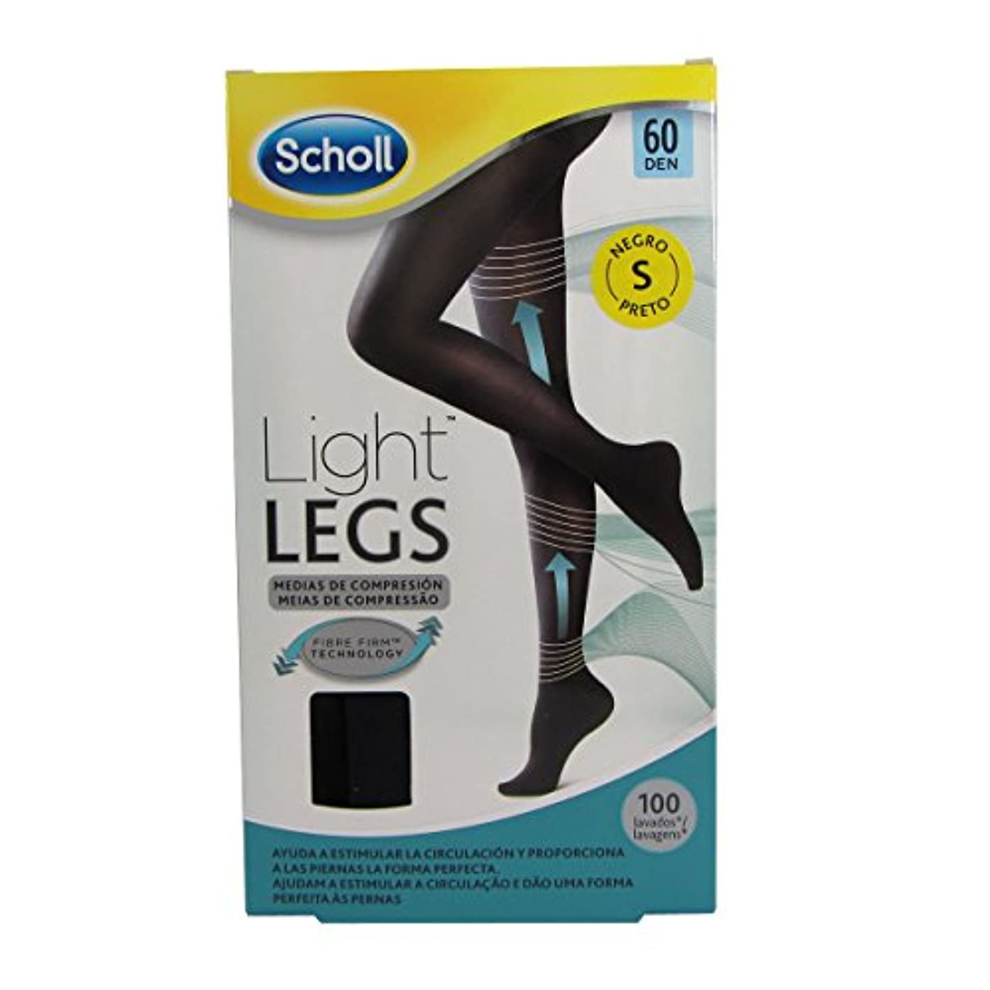器用小売ファンドScholl Light Legs Compression Tights 60den Black Small [並行輸入品]