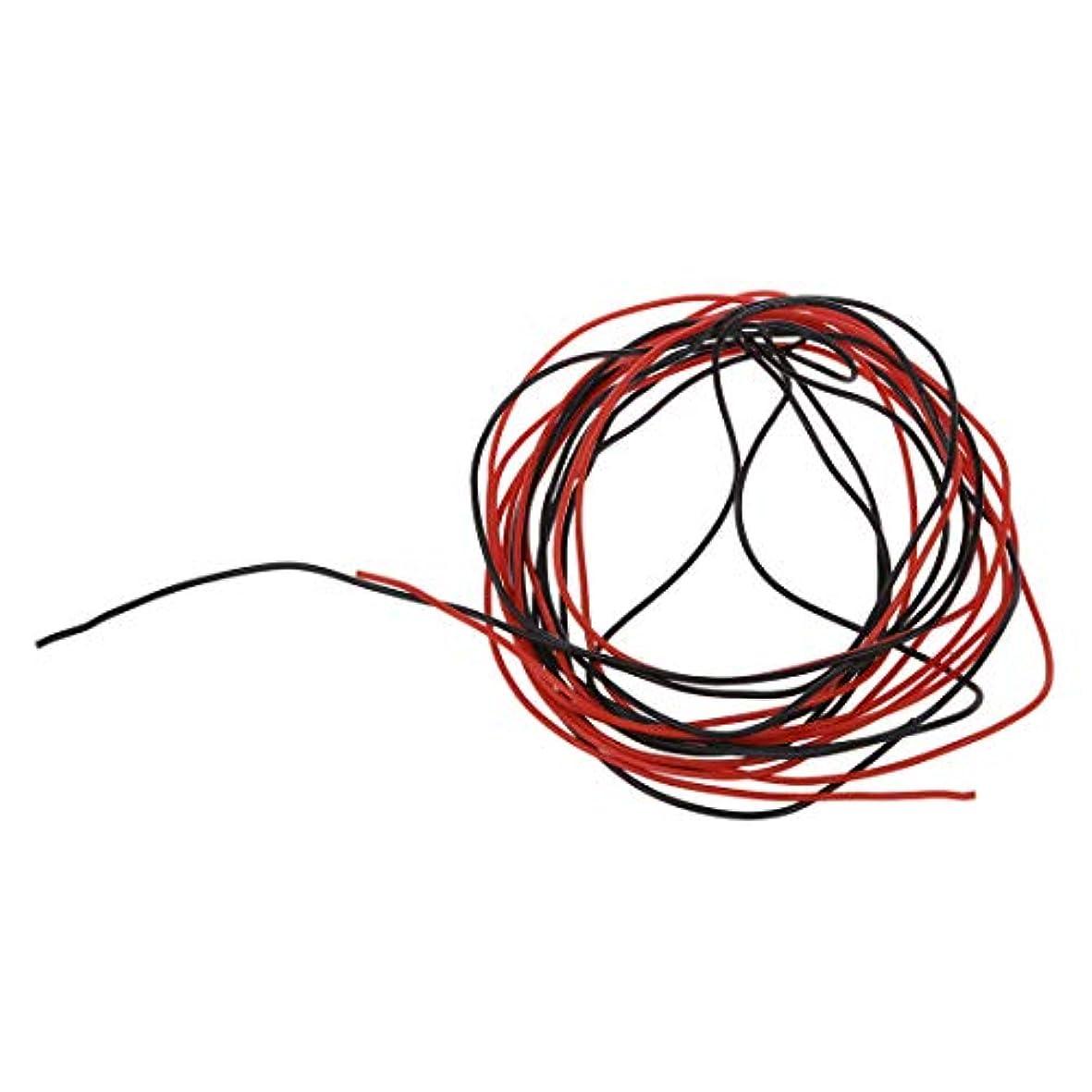有用眩惑する経過RETYLY RETYLY(R)2x 22ゲージのAWGシリコーンゴム線ケーブル赤黒フレキシブル