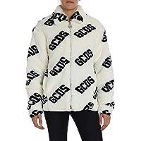 GCDS Women's FW19M04001801 White Acrylic Coat