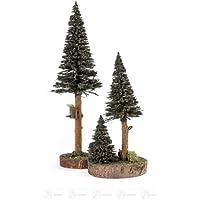 およそ 27 の cm の上昇の鉱石山の木製の木のクリスマスツリーの鳥の家の緑の高さの球果を結ぶ木