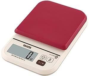 タニタ食堂おすすめ デジタルクッキングスケール 2kg/1g レッド KJ-210M-RD ごはんカロリーモード付 ダイエット管理に