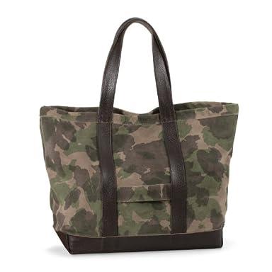 Cinquanta Leather Tote: Camouflage