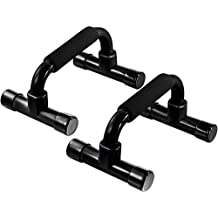 Push Up Bars - Home Workout Equipment Pushup Handle with Cushioned Foam Grip and Non-Slip Sturdy Structure - The Push Up Handles for Floor are Great for Strength Workouts - Push Up Bars for Men Women (Renewed)