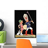 Drum Major and Drummer Wall Mural by Wallmonkeys Peel and Stick Graphic (18 in H x 14 in W) WM335651 [並行輸入品]