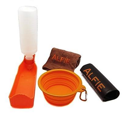Alfie Pet by Petoga Couture - Elva Pet Walking Set with Travel Bowl, Microfiber Fast-Dry Towel, Water Bottle and Zip-Lock Storage Bag