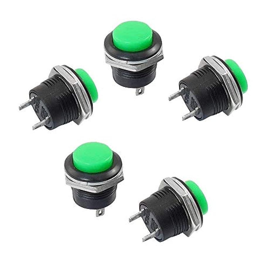 曲がった煙無臭PULABO 5 u0026回;瞬時SPST緑丸キャップボタンスイッチAC 6 A / 125 V 3A / 250 Vクリエイティブで便利 実用的 耐久性