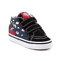 (バンズ) VANS 靴・シューズ スニーカー Toddler Vans Sk8 Mid Peanuts Flying Ace Skate Shoe Black ブラック US 5 (10cm)