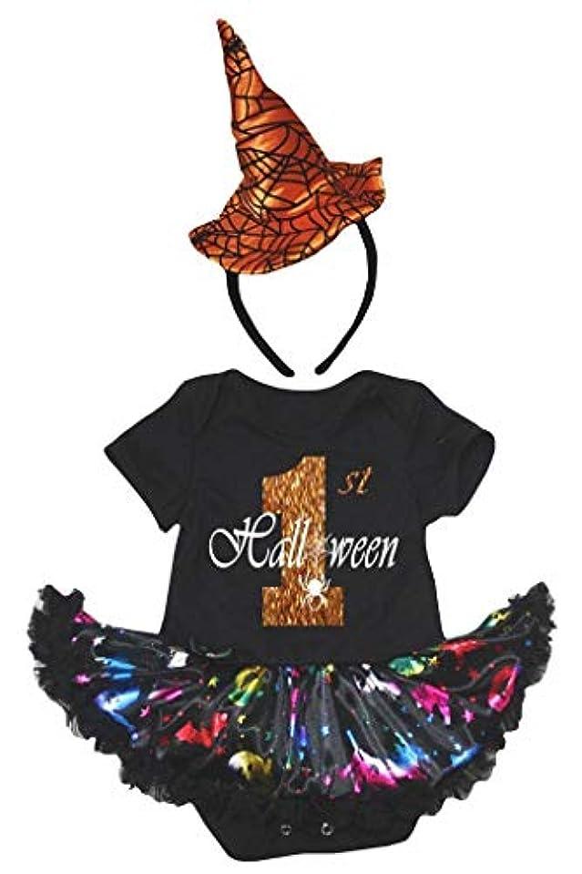 ぼんやりした唯一野球[キッズコーナー] ハロウィン 1st Halloween パンプキン 子供コスチューム、子供のチュチュ、ベビー服、女の子のワンピースドレス Nb-18m (ブラック, X-Large) [並行輸入品]