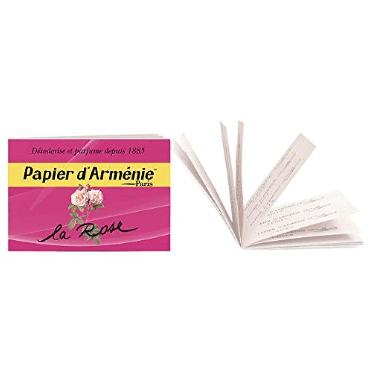 掃く他のバンドで葉を拾うパピエダルメニイ トリプル ローズ (紙のお香 3×12枚/36回分)