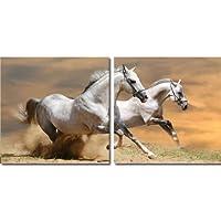 Baxton Studio Galloping GrandeurマウントDiptych写真印刷
