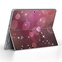 Surface go 専用スキンシール サーフェス go ノートブック ノートパソコン カバー ケース フィルム ステッカー アクセサリー 保護 その他 シンプル 紫 002013
