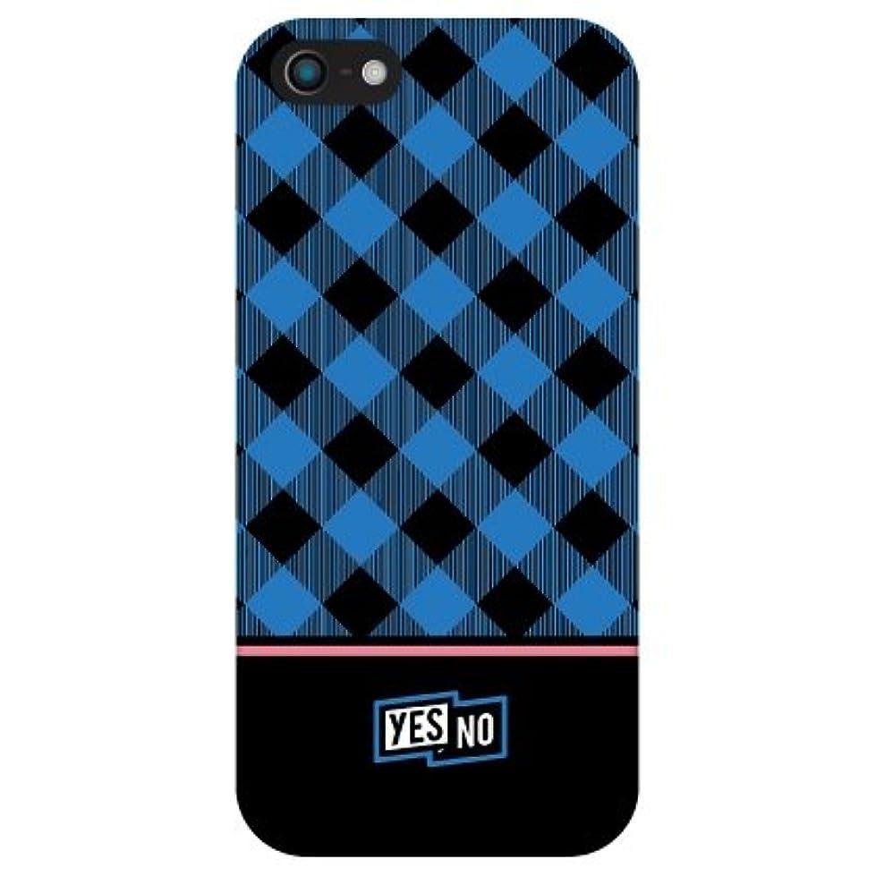 アクション弁護確認YESNO ブロックチェック ブルー (クリア) / for iPhone 5/au AAPIP5-PCCL-201-N113