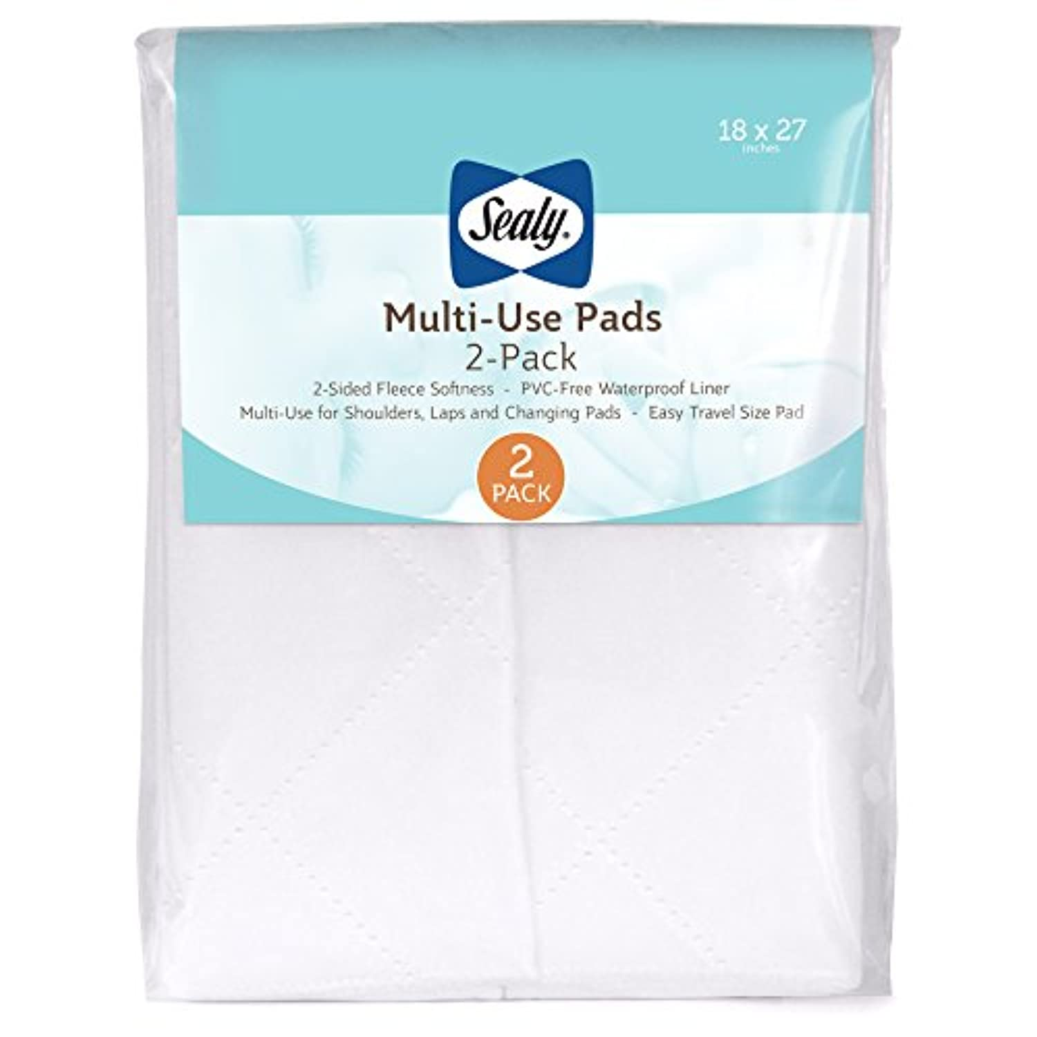 Sealy Multi-Use 2-Piece Quilted Fleece Pads by Sealy