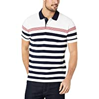 TOMMY HILFIGER Men's Pure Cotton Mixed Stripe Polo