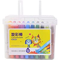 YONGJUN 60色Swirled、Nontoxic 3-in-1効果(クレヨン - 水彩);子供たちのためのギフト、アートツール、滑らかなクレヨン