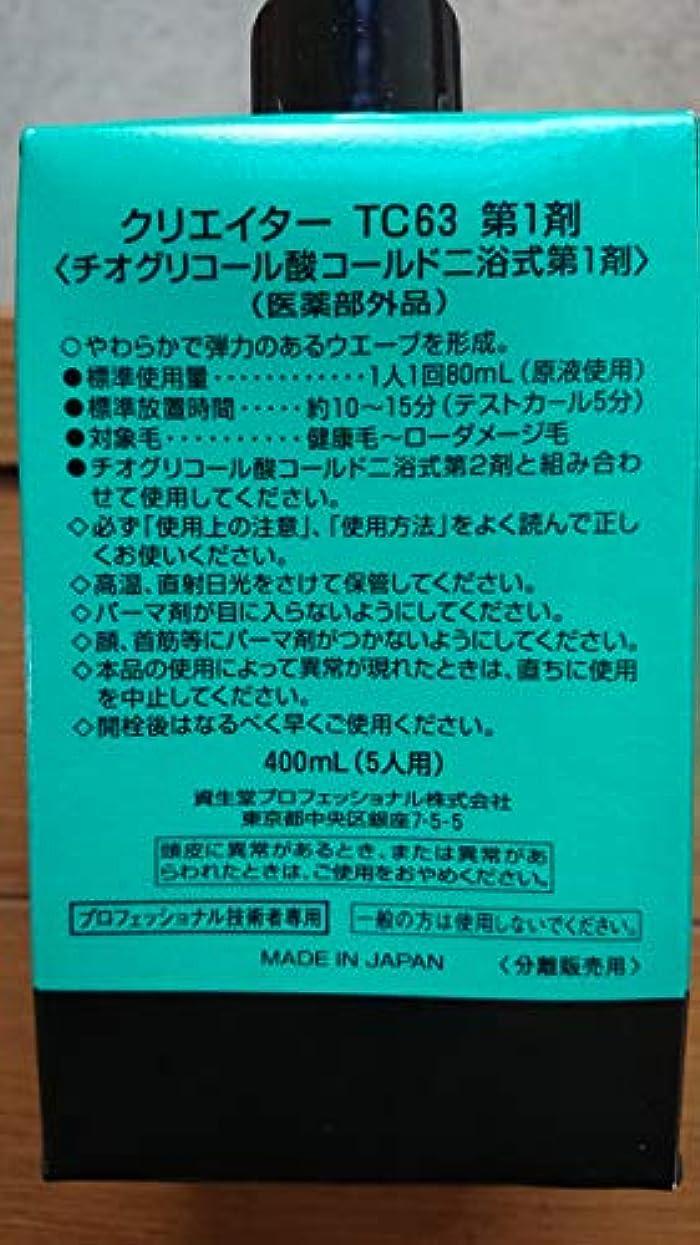 アナロジー生ハウス資生堂 クリエイター TC63(プロ用パーマ液?1剤、2剤各400ml)